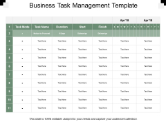 Business Task Management Template Ppt PowerPoint Presentation Layouts Elements