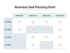 Business Task Planning Chart Ppt PowerPoint Presentation Show Portfolio
