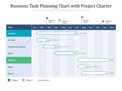 Business Task Planning Chart With Project Charter Ppt PowerPoint Presentation Gallery Introduction PDF