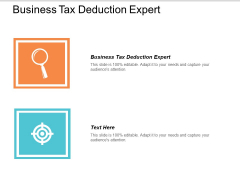 Business Tax Deduction Expert Ppt Powerpoint Presentation Gallery Template