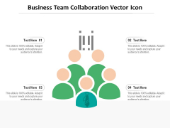 Business Team Collaboration Vector Icon Ppt PowerPoint Presentation Model Example PDF