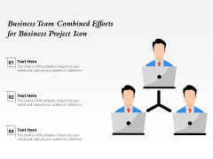 Business Team Combined Efforts For Business Project Icon Ppt PowerPoint Presentation Icon Design Inspiration PDF
