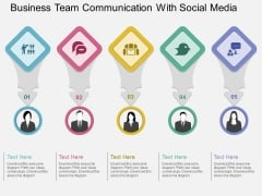 Business Team Communication With Social Media Powerpoint Template