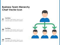 Business Team Hierarchy Chart Vector Icon Ppt PowerPoint Presentation Ideas Display PDF