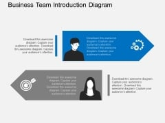 Business Team Introduction Diagram Powerpoint Template