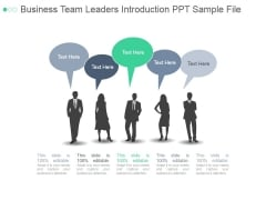 Business Team Leaders Introduction Ppt PowerPoint Presentation Pictures