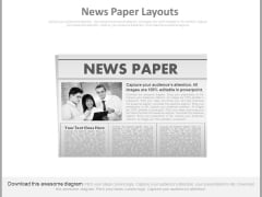 Business Team Picture In News Paper Powerpoint Slides
