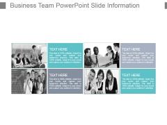 Business Team Powerpoint Slide Information