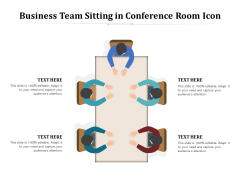 Business Team Sitting In Conference Room Icon Ppt PowerPoint Presentation File Picture PDF