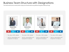 Business Team Structure With Designations Infographics PDF