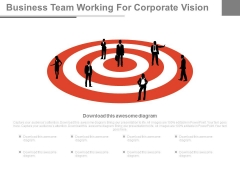 Business Team Working For Corporate Vision Powerpoint Slides