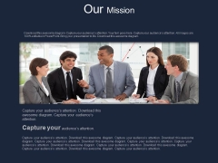 Business Team Working For Our Mission Powerpoint Slides