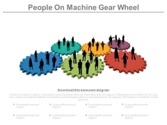 Business Teams On Colorful Gears Powerpoint Slides