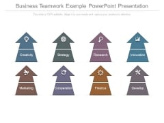 Business Teamwork Example Powerpoint Presentation
