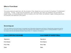 Business Term Sheet Effect Of Term Sheet Ppt Ideas PDF