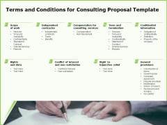 Business Terms And Conditions For Consulting Proposal Template Ppt Slides Download PDF