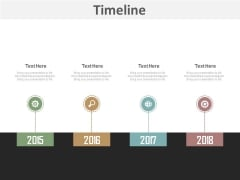 Business Timeline For Visualizing Strategy Powerpoint Slides