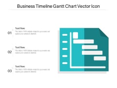 Business Timeline Gantt Chart Vector Icon Ppt PowerPoint Presentation Infographic Template Gridlines PDF
