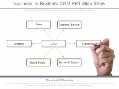 Business To Business Crm Ppt Slide Show