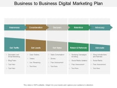 Business To Business Digital Marketing Plan Ppt PowerPoint Presentation Pictures