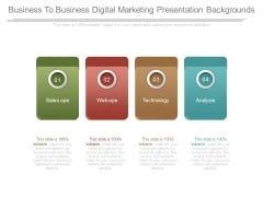 Business To Business Digital Marketing Presentation Backgrounds