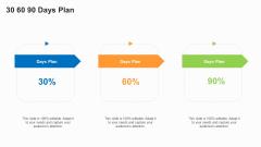 Business To Business Market Segmentation Criteria 30 60 90 Days Plan Clipart PDF