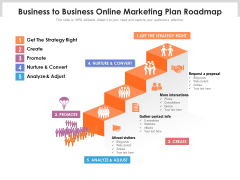 Business To Business Online Marketing Plan Roadmap Ppt PowerPoint Presentation Icon Backgrounds PDF