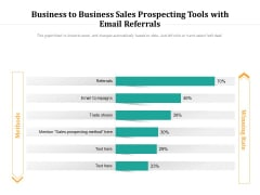 Business To Business Sales Prospecting Tools With Email Referrals Ppt PowerPoint Presentation Graphics PDF