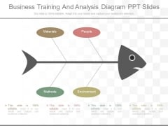 Business Training And Analysis Diagram Ppt Slides