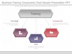 Business Training Components Chart Sample Presentation Ppt