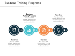 Business Training Programs Ppt PowerPoint Presentation Portfolio Gridlines Cpb