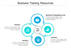 Business Training Resources Ppt PowerPoint Presentation File Icons Cpb Pdf