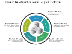 Business Transformation Assess Design And Implement Ppt PowerPoint Presentation Portfolio Format