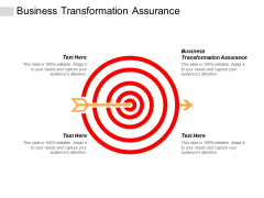 Business Transformation Assurance Ppt PowerPoint Presentation Pictures Show Cpb
