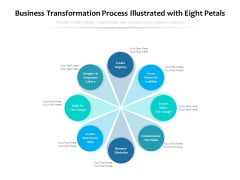 Business Transformation Process Illustrated With Eight Petals Ppt PowerPoint Presentation Inspiration Display PDF