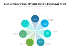 Business Transformation Process Illustrated With Seven Petals Ppt PowerPoint Presentation Icon Graphics Design PDF