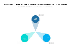 Business Transformation Process Illustrated With Three Petals Ppt PowerPoint Presentation Show Infographic Template PDF