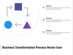 Business Transformation Process Vector Icon Ppt PowerPoint Presentation Pictures Gridlines