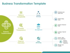 Business Transformation Template Ppt PowerPoint Presentation Layouts Styles