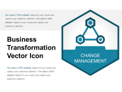 Business Transformation Vector Icon Ppt PowerPoint Presentation Infographic Template Aids PDF