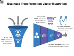 Business Transformation Vector Illustration Ppt PowerPoint Presentation Gallery Templates PDF