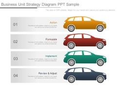 Business Unit Strategy Diagram Ppt Sample