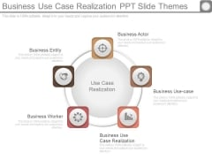 Business Use Case Realization Ppt Slide Themes