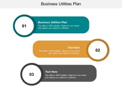 Business Utilities Plan Ppt PowerPoint Presentation Show Design Templates Cpb