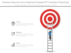 Business Value And Vision Statement Template Ppt Examples Professional