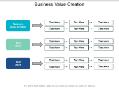 Business Value Creation Ppt PowerPoint Presentation Infographic Template Inspiration Cpb