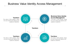 Business Value Identity Access Management Ppt PowerPoint Presentation Model Professional Cpb