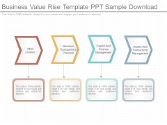 Business Value Rise Template Ppt Sample Download