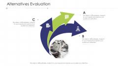 Business Venture Tactical Planning Complete PPT Deck Alternatives Evaluation Professional PDF