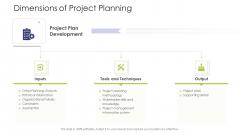 Business Venture Tactical Planning Complete PPT Deck Dimensions Of Project Planning Portrait PDF